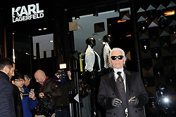 Karl Lagerfeld attending the Karl Lagerfeld's Concept Store Opening party as part of Paris Fashion Week in Paris, France, on February 28, 2013. Photo by Nicolas Briquet/ABACAPRESS.COM