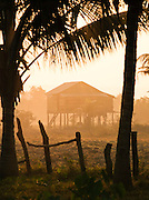 A stilted house in rural countryside, Siem Reap Province, Cambodia