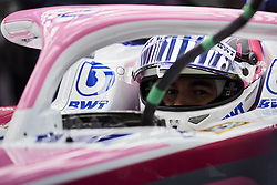 February 18, 2019 - Barcelona, Catalonia, Spain - Sergio Perez of Mexico driving the (11) Racing Point RP19 Mercedes during day one of F1 Winter Testing at Circuit de Catalunya on February 18, 2019 in Montmelo, Spain. (Credit Image: © Jose Breton/NurPhoto via ZUMA Press)