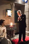 HELEN MCCRORY; NICKY HASLAM, Nicky Haslam hosts dinner at  Gigi's for Leslie Caron. 22 Woodstock St. London. W1C 2AR. 25 March 2015