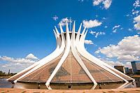 Cathedral Metropolitana Nossa Senhora Aparecida The Metropolitan Cathedral of Brasilia city capital of Brazil UNESCO World Heritage site is an expression of the geniality of the architect Oscar Niemeyer