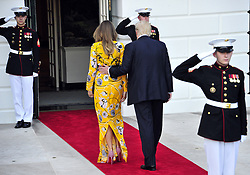 June 26, 2017 - Washington, District of Columbia, United States of America - United States President Donald J. Trump and first lady Melania Trump return to the White House after bidding farewell to Prime Minister Narendra Modi of India to the White House in Washington, DC on Monday, June 26, 2017..Credit: Ron Sachs / CNP (Credit Image: © Ron Sachs/CNP via ZUMA Wire)