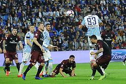 """Foto LaPresse/Filippo Rubin<br /> 26/05/2019 Ferrara (Italia)<br /> Sport Spal - Milan - Campionato di calcio Serie A 2018/2019 - Stadio """"Paolo Mazza""""<br /> Nella foto: GOAL SPAL MOHAMED FARES (SPAL)<br /> <br /> Photo LaPresse/Filippo Rubin<br /> May 26, 2019 Ferrara (Italy)<br /> Sport Soccer<br /> Spal vs Milan - Italian Football Championship League A 2018/2019 - """"Paolo Mazza"""" Stadium <br /> In the pic: GOAL SPAL MOHAMED FARES (SPAL)"""