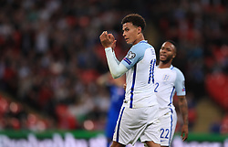 England's Deli Alli applauds the fans as he is substituted