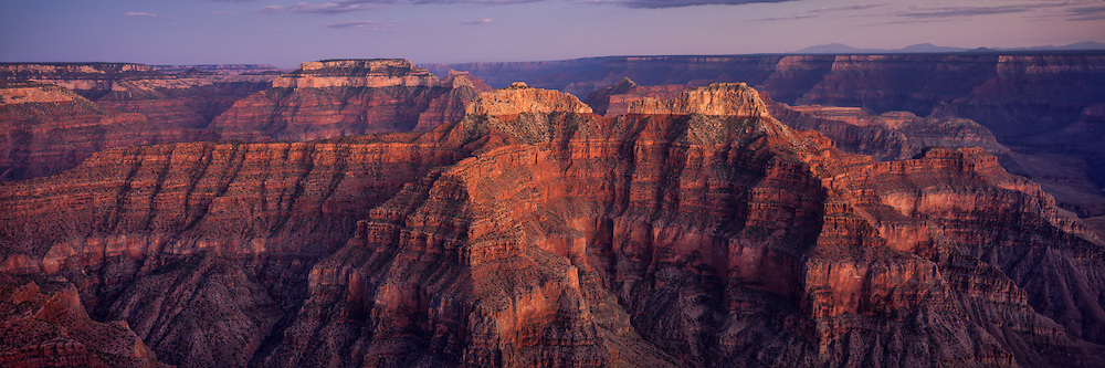Shiva, Confucius and Mencius Temples from Point Sublime on the North Rim of the Grand Canyon in Arizona