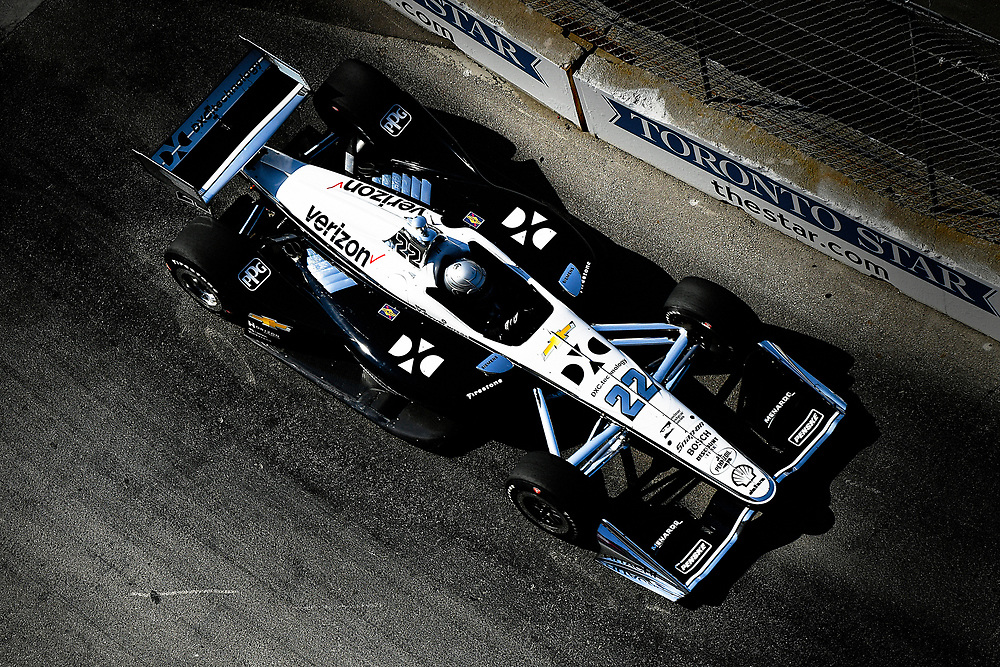 Simon Pagenaud, Team Penske Chevrolet<br /> Sunday 15 July 2018<br /> Honda Indy Toronto<br /> Verizon IndyCar Series<br /> Streets of Toronto ON CAN<br /> World Copyright: Scott R LePage