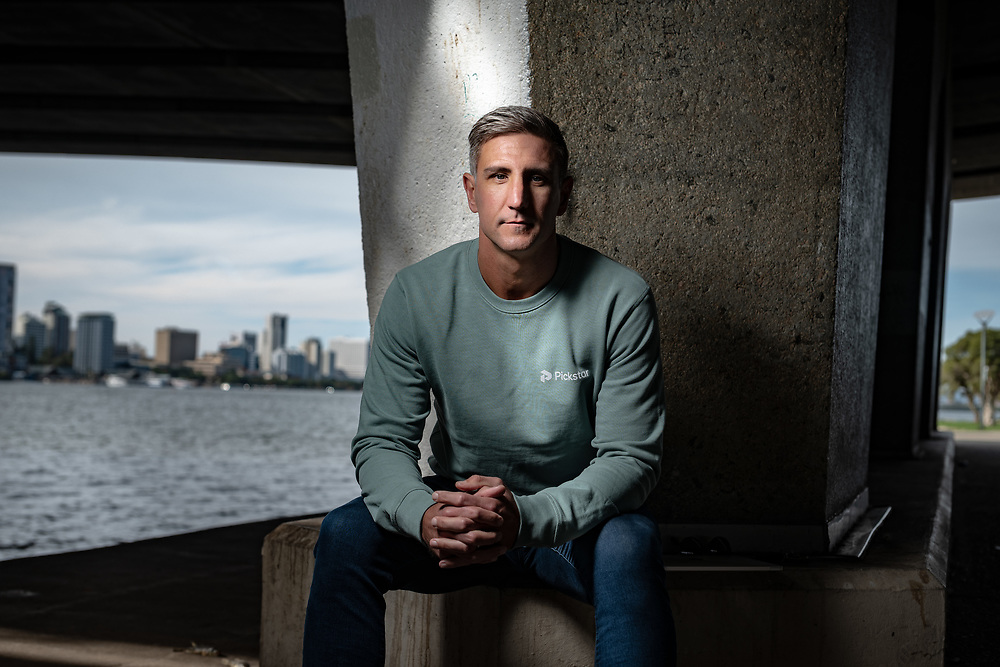 Ex AFL footballer, Matthew Pavlich in South Perth today Wednesday May 26, 2021.<br /> Pic:Tony McDonough