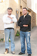 Michel Escande and his son Gabriel Domaine Borie de Maurel. In Felines-Minervois. Minervois. Languedoc. Owner winemaker. France. Europe.