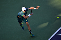 March 29, 2018 - Key Biscayne, Florida, United States Of America - KEY BISCAYNE, FL - MARCH 29: Kevin Anderson  during day 11 of the Miami Open Presented by Itau at Crandon Park Tennis Center on March 29, 2018 in Key Biscayne, Florida. ...People:  Kevin Anderson. (Credit Image: © SMG via ZUMA Wire)