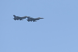May 4, 2019 - Fort Lauderdale, Florida, United States Of America - FORT LAUDERDALE, FL - MAY 04: F-16 Fighting Falcon performs in the Fort Lauderdale Air Show on May 4, 2019 in Fort Lauderdale, Florida...People:  F-16 Fighting Falcon. (Credit Image: © SMG via ZUMA Wire)