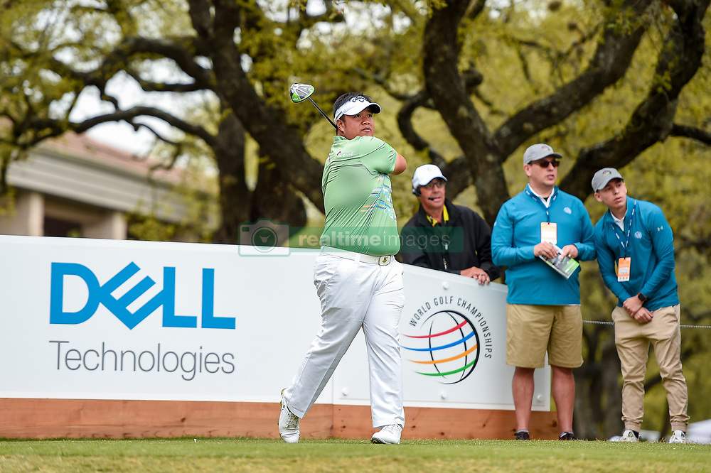 March 23, 2018 - Austin, TX, U.S. - AUSTIN, TX - MARCH 23: Kiradech Aphibarnrat watches his tee shot during the third round of the WGC-Dell Technologies Match Play on March 23, 2018 at Austin Country Club in Austin, TX. (Photo by Daniel Dunn/Icon Sportswire) (Credit Image: © Daniel Dunn/Icon SMI via ZUMA Press)