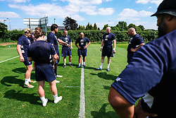 Forwards look on during week 1 of Bristol Bears pre-season training ahead of the 19/20 Gallagher Premiership season - Rogan/JMP - 03/07/2019 - RUGBY UNION - Clifton Rugby Club - Bristol, England.