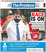 August 16, 2021 - CANADA: Front-page: Today's Newspapers In Canada