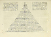 Numbers theory Table of permutations or permutation pyramid calculated to 50 items, by John Snart.  Copperplate engraving From the Encyclopaedia Londinensis or, Universal dictionary of arts, sciences, and literature; Volume XVII;  Edited by Wilkes, John. Published in London in 1820