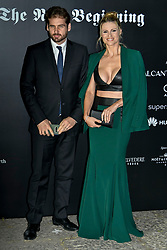 Milan Event Vogue Italy The New Beginning. Pictured Arrivals: Tomaso Trussardi Michelle Hunziker