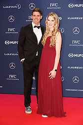 Laureus Academy Member Missy Franklin and Hayes Johnson arriving to the Laureus Sports Awards 2019 ceremony at the Sporting Monte-Carlo in Monaco on February 18, 2019. Photo by Marco Piovanotto/ABACAPRESS.COM