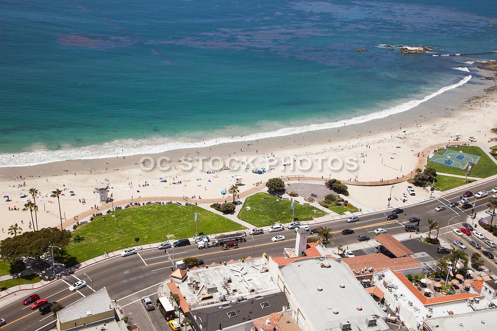 Laguna Beach Main Beach Aerial Stock Photo
