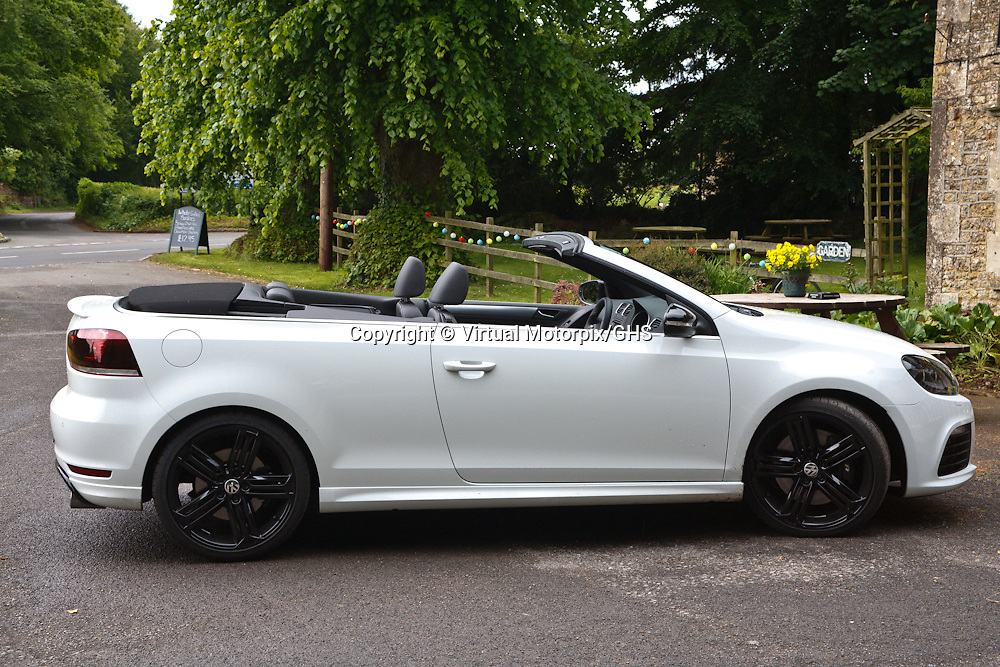 VW Golf R, Cabriolet (2013), VW driving day, Wiltshire, United Kingdom