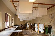 Inside the Victorian laundry at Audley End House, Saffron Walden, Essex, England, UK