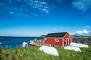 Little fisherhut on the North cape of Newfoundland, Canada