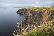Sheer cliffs along the Cliffs of Moher coastal walk