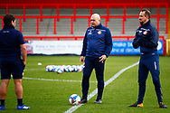 Trainers of Stevenage FC during the EFL Sky Bet League 2 match between Stevenage and Walsall at the Lamex Stadium, Stevenage, England on 20 February 2021.