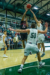 BLOOMINGTON, IL - November 12: Randy Love during a college basketball game between the IWU Titans  and the Blackburn Beavers on November 12 2019 at Shirk Center in Bloomington, IL. (Photo by Alan Look)