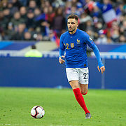 PARIS, FRANCE - March 25:  Layvin Kurzawa #22 of France in action during the France V Iceland, 2020 European Championship Qualifying, Group Stage at  Stade de France on March 25th 2019 in Paris, France (Photo by Tim Clayton/Corbis via Getty Images)