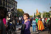 Catalonia declares independence from Spain. Catalan independence activist Liz Castro speaks to international media after the Catalan parliament votes to adopt results of independence referendum.