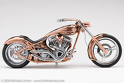 Paul Yaffe 's Prodigy, 1999 Harley-Davidson Evo, built in 2000. Photographed by Michael Lichter in Sturgis, SD. August 1, 2020. ©2020 Michael Lichter
