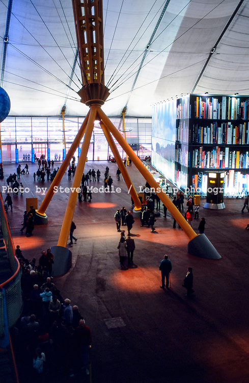 Visitors to the exhibition inside the Millennium Dome, Greenwich, London, England - 27 November 2000