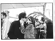 Tim Burton, Lisa Marie, Lisa Marie cocktails, Martinez hotel, Cannes Film Festival 10th May 1997© Copyright Photograph by Dafydd Jones 66 Stockwell Park Rd. London SW9 0DA Tel 020 7733 0108 www.dafjones.com
