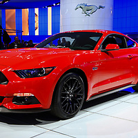"""""""2015 Mustang in Red""""<br /> <br /> The beautiful 2015 Ford Mustang from the Detroit NAIAS""""<br /> <br /> Cars and their Details by Rachel Cohen"""