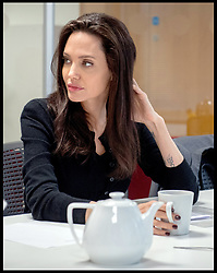 March 14, 2017 - London, London, United Kingdom - Image ©Licensed to i-Images Picture Agency. 14/03/2017. London, United Kingdom. Angelina Jolie visit LSE. UNHCR Special Envoy Angelina Jolie attends the LSE. Picture by Andrew Parsons / i-Images (Credit Image: © Andrew Parsons/i-Images via ZUMA Press)
