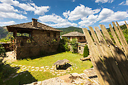 Picturesque bulgarian village with stone houses