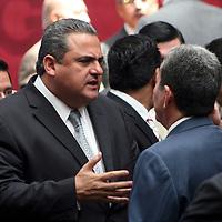 Toluca,  Mex -  Jose Salvador Neme Sastre durante la presentacion del Plan de  Desarrollo Estatal 2011-2017 del gobernador Eruviel Avila Villegas.   Agencia MVT / Jose Hernadez