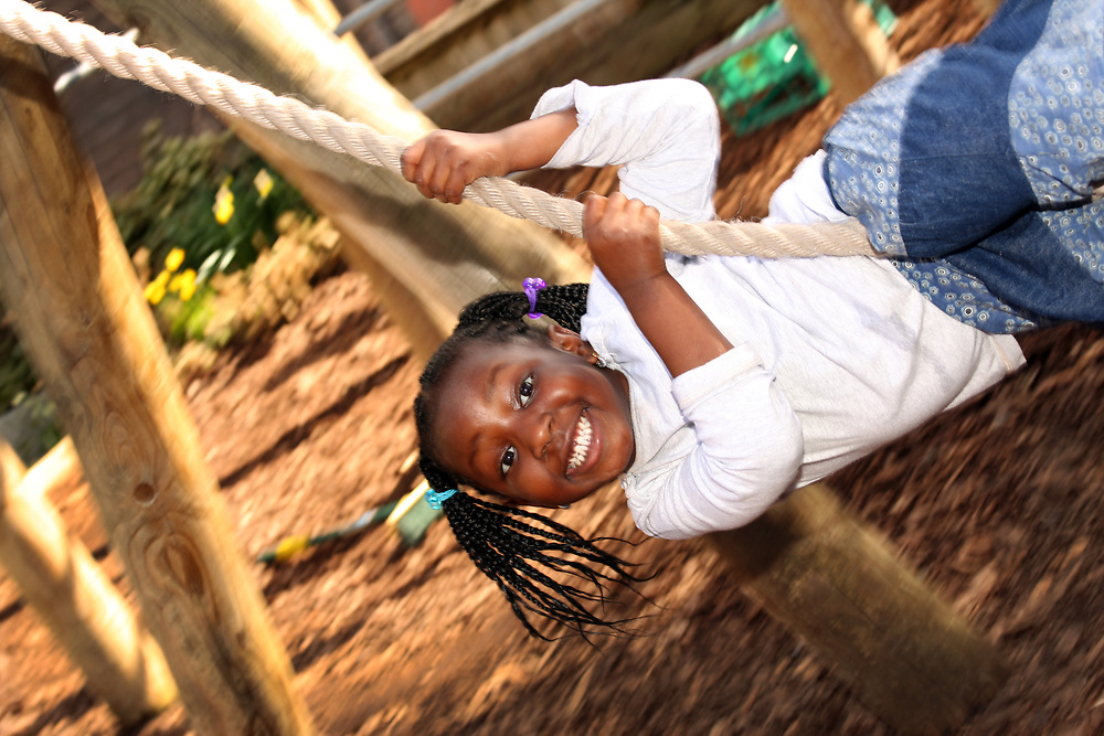 Clyde Early Childhood Centre<br /> Alverton Street<br /> Deptford SE8 5NH<br /> <br /> outdoor play. rope swing and climbing frame