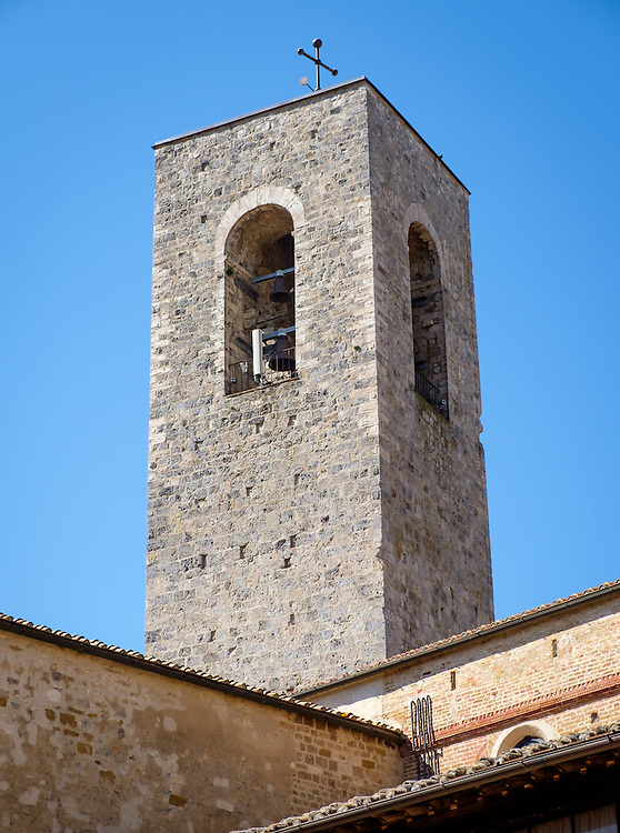 SAN GIMIGNANO, ITALY - CIRCA MAY 2015:  Tower in the medieval walled city of San Gimignano in Tuscany