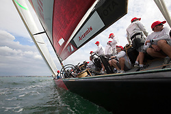 Artemis loses their first race in the round robin against Emirates Team New Zealand. Auckland, New Zealand, March 8th 2010. Louis Vuitton Trophy  Auckland (8-21 March 2010) © Sander van der Borch / Artemis