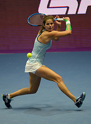 February 3, 2018 - St. Petersburg, Russia - Russia, St. Petersburg, on February 3, 2018. International female tennis tournament of WTA ''St. Petersburg Ladies Trophy2018''. In picture: Julia Goerges (Germany) at semifinal match of female single games on tournament ''St. Petersburg Ladies Trophy2018'' against Petra Kvitova  (Credit Image: © Andrey Pronin via ZUMA Wire)