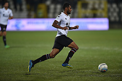 November 3, 2018 - Vercelli, Italy - Brasilian midfielder Gladestony Da Silva from Pro Vercelli team playing during Saturday evening's match against Novara Calcio valid for the 10th day of the Italian Lega Pro championship  (Credit Image: © Andrea Diodato/NurPhoto via ZUMA Press)