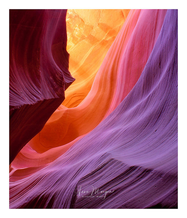 A kaleidoscope of reflected colour in Antelope sandstone slot Canyon near Page, Arizona