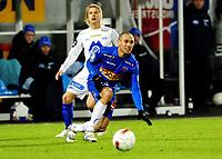 Fotball Tippeligaen 21.03.2010  Komplett Arena Sandefjord<br /> <br /> Sandefjord vs Molde<br /> <br /> Resultat 3 - 1<br /> <br /> Foto: Robert Christensen Digitalsport<br /> <br /> Sandefjord Marciano Jose de Nascimento<br /> <br /> Molde Emil Johansson