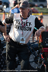 Dave Currier had Milwaukee Tools behind him as a sponsor for the Motorcycle Cannonball coast to coast vintage run. Stage 10 (299 miles) from Sturgis, SD to Billings, MT. Tuesday September 18, 2018. Photography ©2018 Michael Lichter.