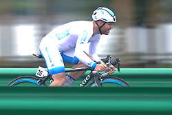 September 15, 2017 - Chenghu City, United States - Quantin Valognes from Team Novo Nordisk during the fourth stage of the 2017 Tour of China 1, the 3.3 km Chenghu Jintang individual time trial. .On Friday, 15 September 2017, in Jintang County, Chenghu City,  Sichuan Province, China. (Credit Image: © Artur Widak/NurPhoto via ZUMA Press)