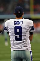 28 August 2014: Dallas Cowboys quarterback Tony Romo (9) before the football game between the Dallas Cowboys and the Denver Broncos at AT&T Stadium in Arlington, Texas. Denver beat Dallas 27-3. NFL American Football Herren USA AUG 28 Preseason - Broncos at Cowboys PUBLICATIONxINxGERxSUIxAUTxHUNxRUSxSWExNORxONLY Icon169140828200<br /> <br /> 28 August 2014 Dallas Cowboys Quarterback Tony Romo 9 Before The Football Game between The Dallas Cowboys and The Denver Broncos AT AT Stage in Arlington Texas Denver Beat Dallas 27 3 NFL American Football men USA Aug 28 Preseason Broncos AT Cowboys PUBLICATIONxINxGERxSUIxAUTxHUNxRUSxSWExNORxONLY