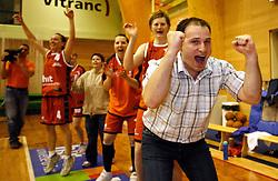 Coach of Hit Kr.Gora Goran Jovanovic at finals of Slovenian women basketball 1st league between Hit Kranjska Gora and ZKK Merkur Celje, on May 15, 2007, in Kranjska Gora, Slovenia. (Photo by Vid Ponikvar / Sportida)