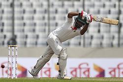August 29, 2017 - Mirpur, Dhaka, Bangladesh - Bangladesh's Tamim Iqbal Batting during the third day od 1st test match between Bangladesh against Australia in Mirpur, Dhaka, Bangladesh. (Credit Image: © Ahmed Salahuddin/NurPhoto via ZUMA Press)