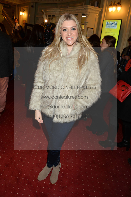 ANNA WILLIAMSON at Beautiful - The Carole King Musical 1st Birthday celebration evening at The Aldwych Theatre, London on 23rd February 2016.