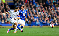 Eden Hazard of Chelsea and Everton's Ross Barkley in action- Mandatory byline: Matt McNulty/JMP - 07966386802 - 12/09/2015 - FOOTBALL - Goodison Park -Everton,England - Everton v Chelsea - Barclays Premier League